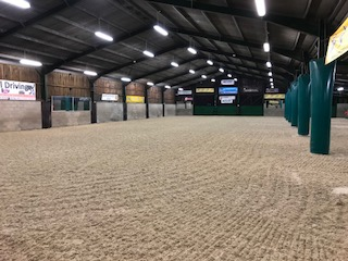 Top event rider Sharon Hunt adds new Martin Collins indoor and outdoor arenas.